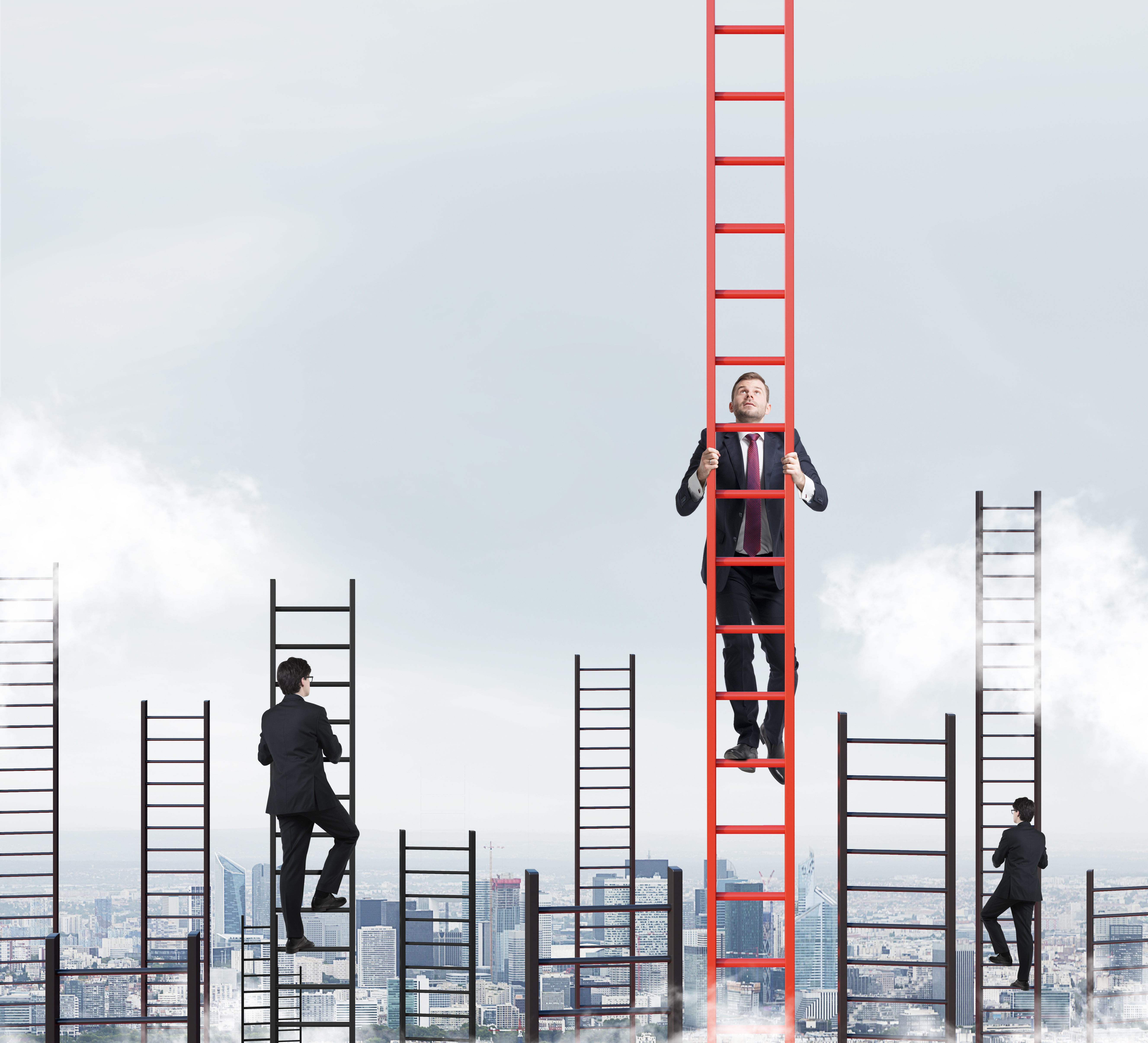 Create Brand Loyalty Through Work Culture - Men climbing up ladders