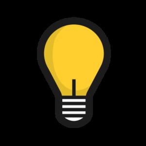 yellow lightbulb icon