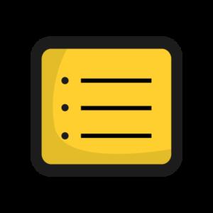 yellow checklist icon